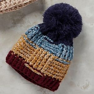 Anthropologie Pommed Lodge Beanie in Navy